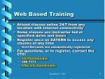 web based training