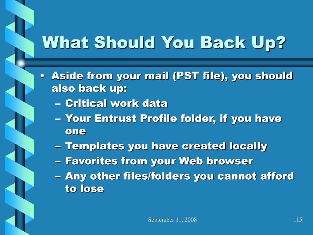 What Should You Back Up?