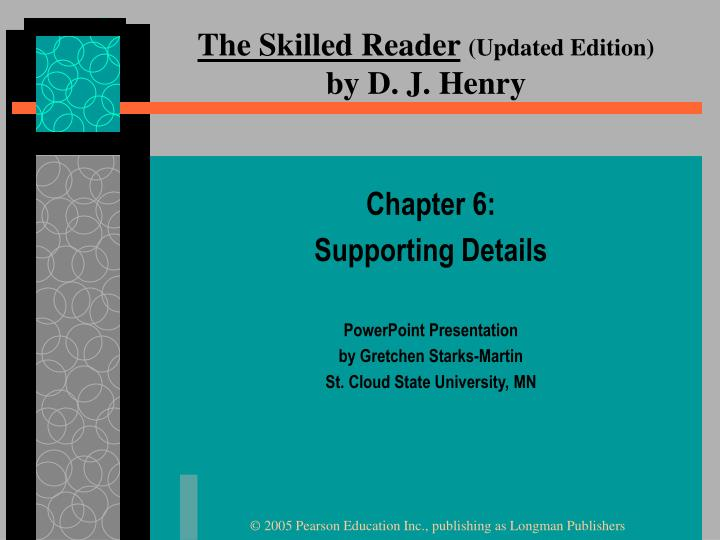 The skilled reader updated edition by d j henry
