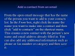 add a contact from an email