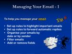 managing your email 1