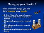 managing your email 2
