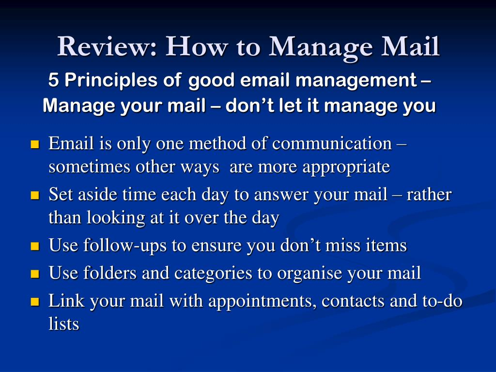 Review: How to Manage Mail