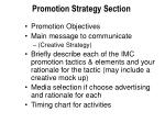 promotion strategy section