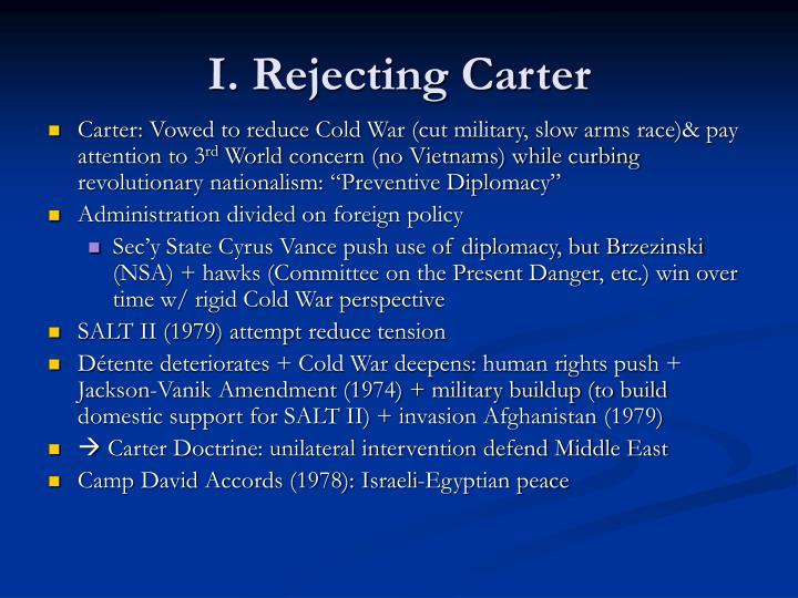 I rejecting carter