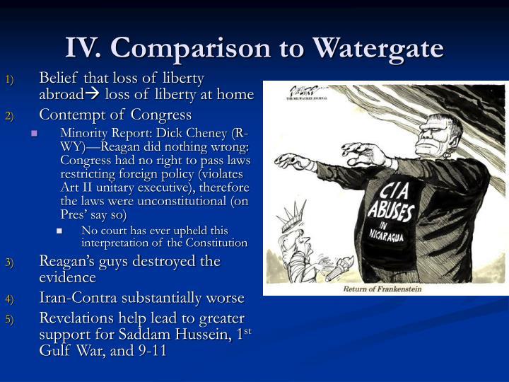 IV. Comparison to Watergate