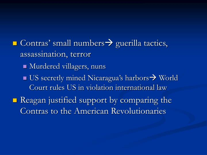 Contras' small numbers