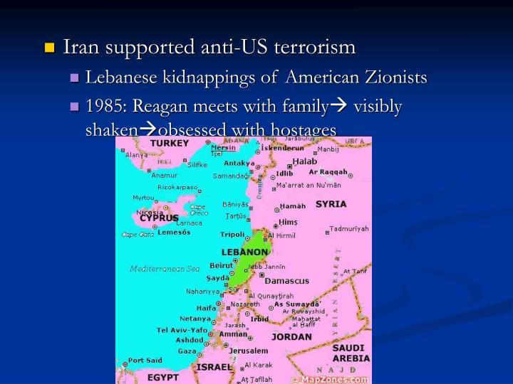 Iran supported anti-US terrorism