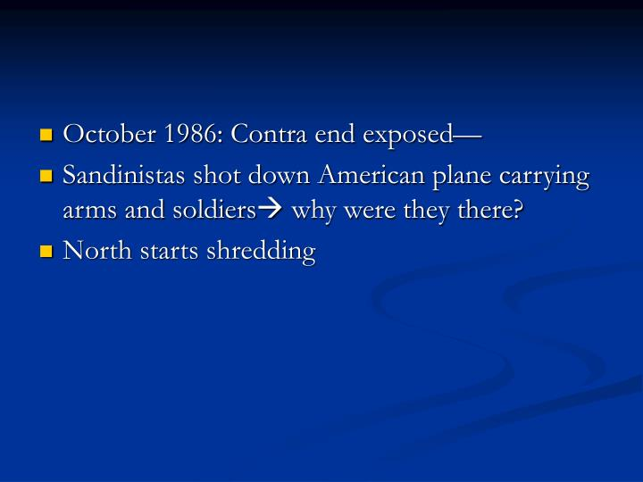 October 1986: Contra end exposed—