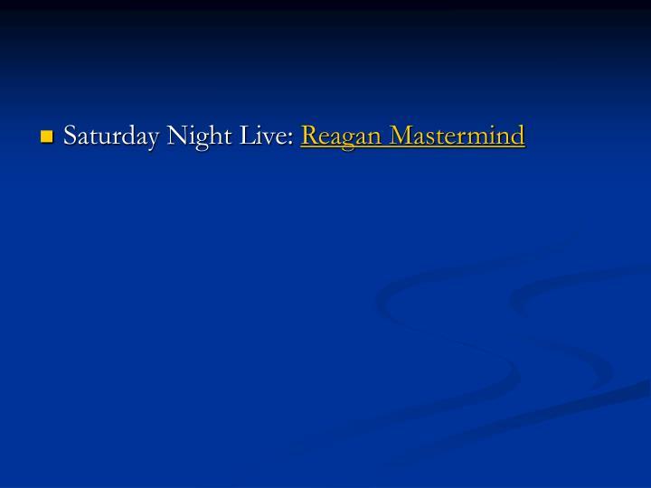 Saturday Night Live: