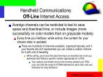 handheld communications off line internet access22