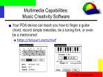 multimedia capabilities music creativity software