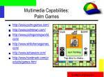 multimedia capabilities palm games