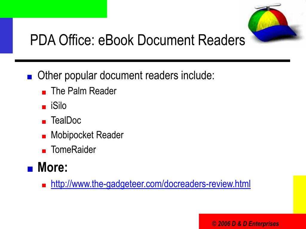 PDA Office: eBook Document Readers