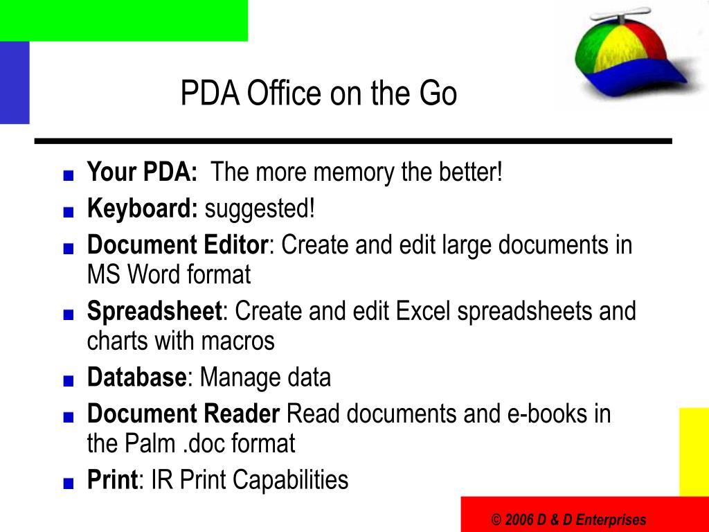PDA Office on the Go