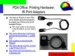 pda office printing hardware ir print adapters