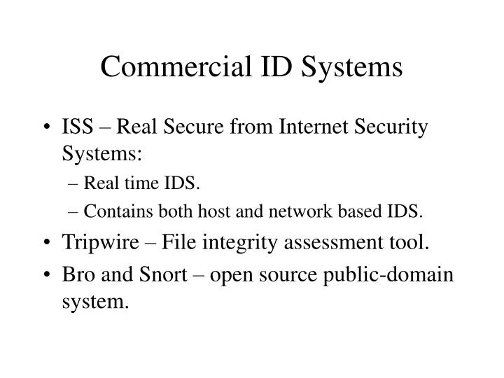 Commercial ID Systems