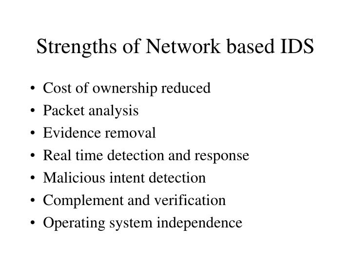 Strengths of Network based IDS