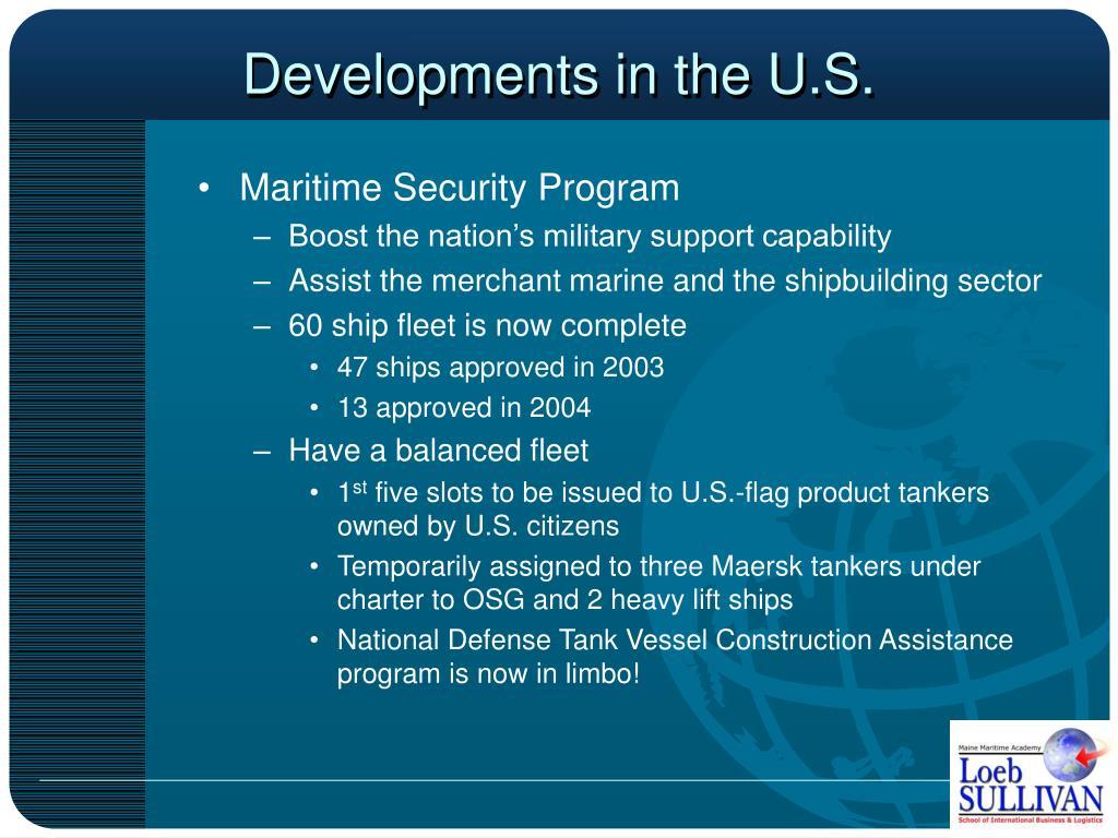 Developments in the U.S.