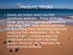 hedonic model