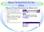 music instruction for the pda17