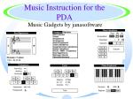 music instruction for the pda19