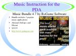 music instruction for the pda21