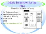 music instruction for the pda32