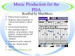 music production for the pda35