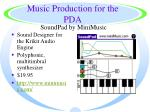 music production for the pda36