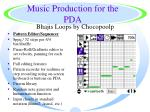 music production for the pda44