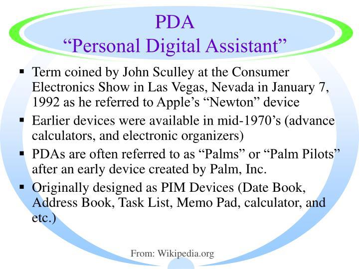 Pda personal digital assistant