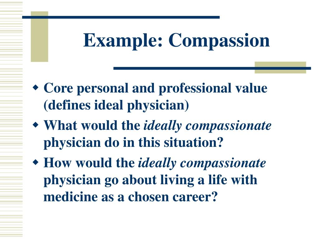 Example: Compassion