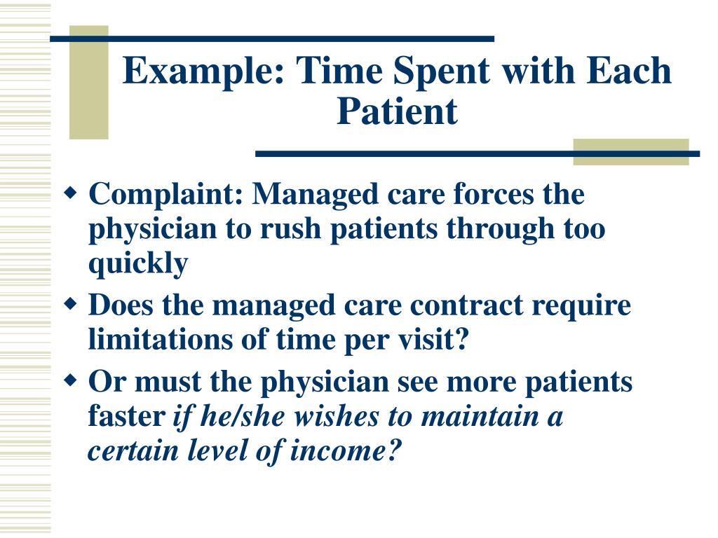 Example: Time Spent with Each Patient