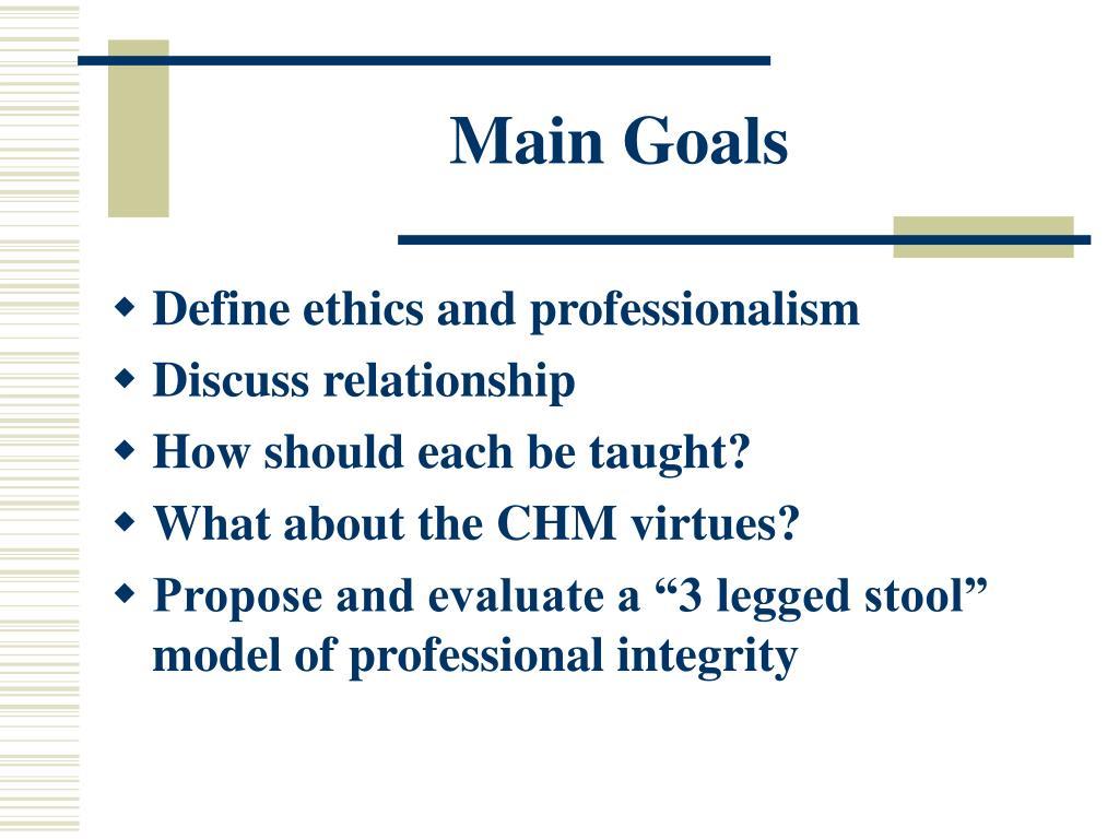 Main Goals