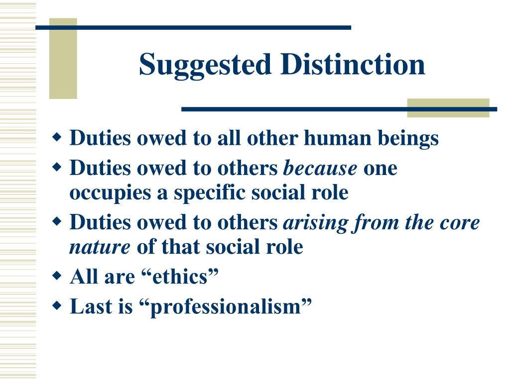 Suggested Distinction