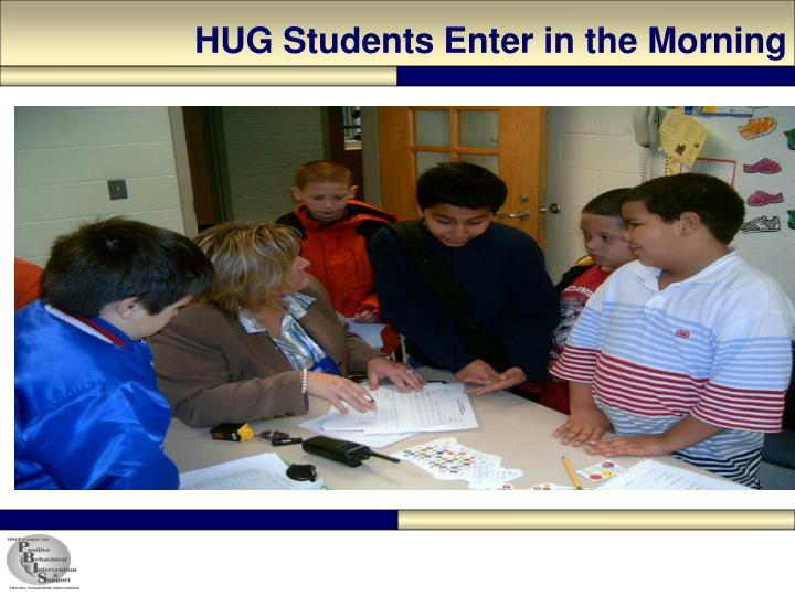 HUG Students Enter in the Morning