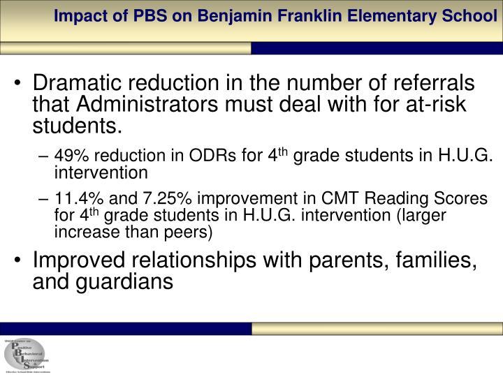 Impact of PBS on Benjamin Franklin Elementary School