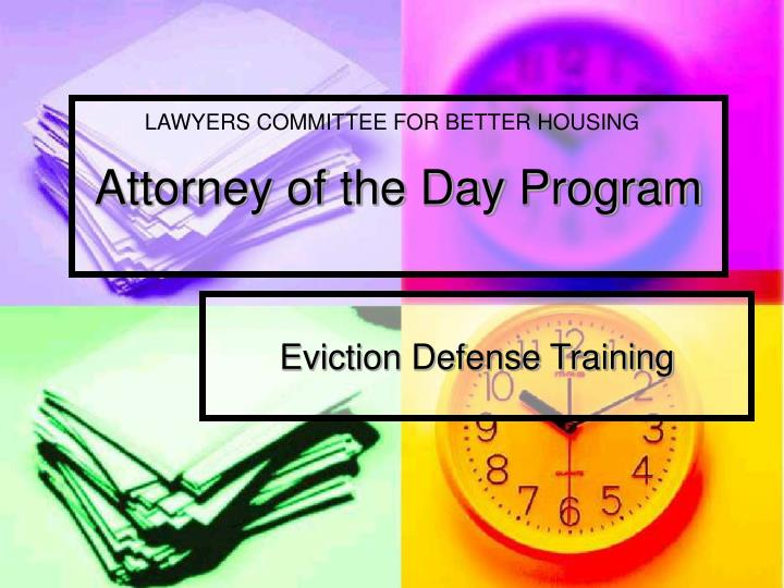 attorney of the day program n.