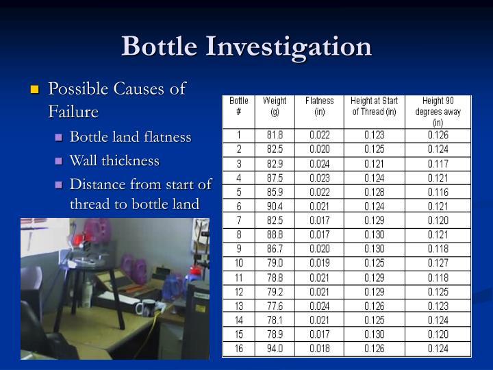 Bottle Investigation