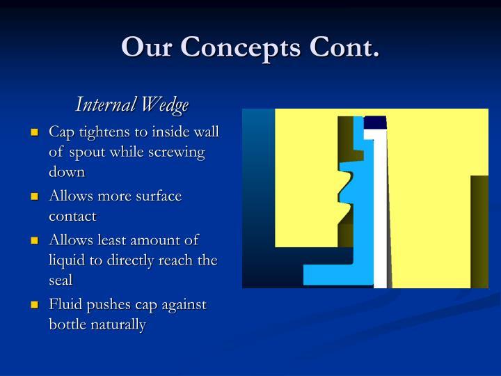 Our Concepts Cont.