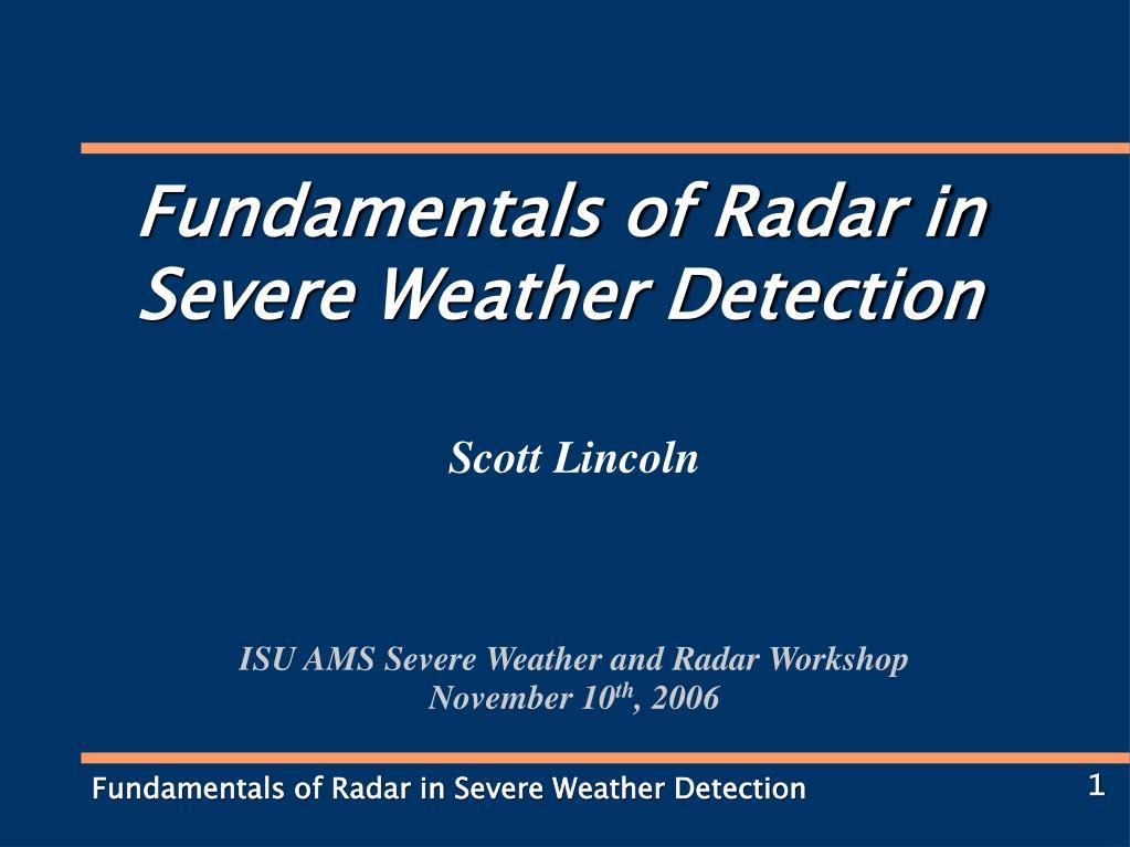 scott lincoln isu ams severe weather and radar workshop november 10 th 2006 l.