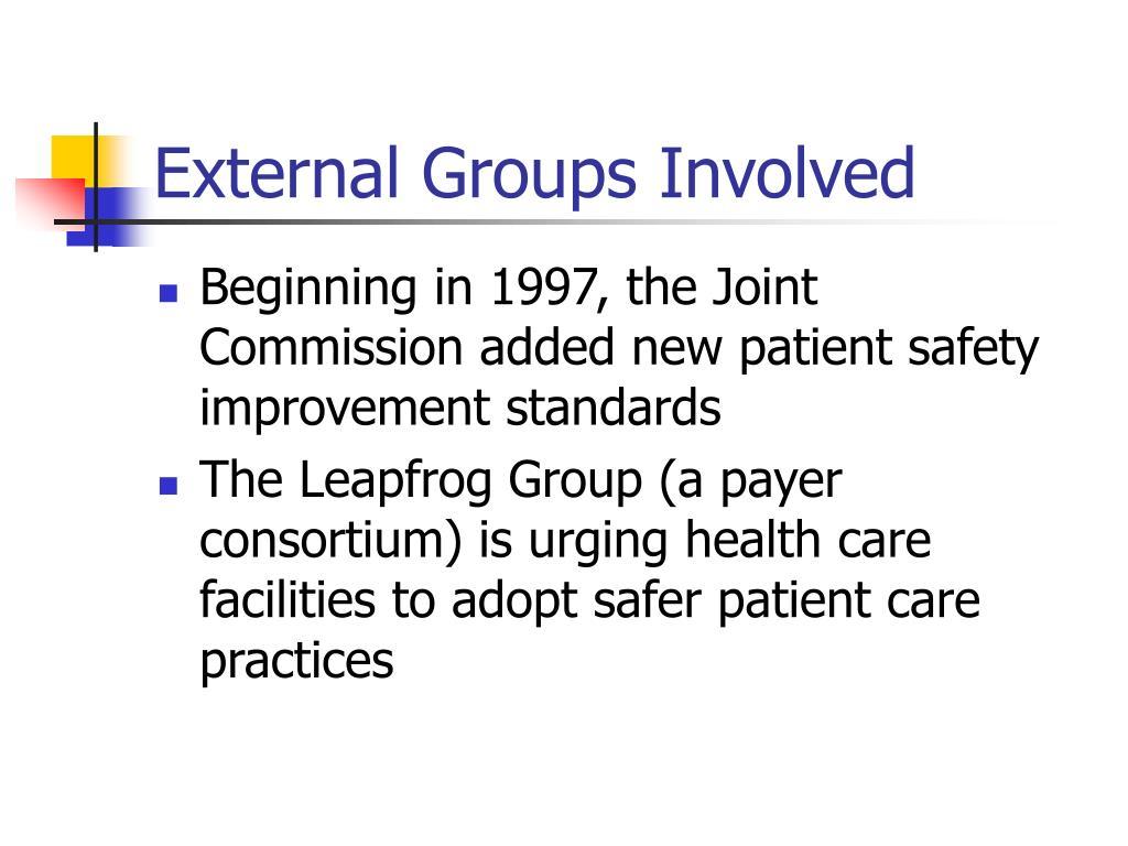 External Groups Involved