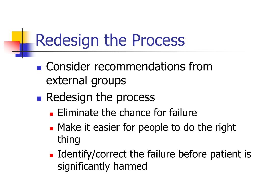 Redesign the Process