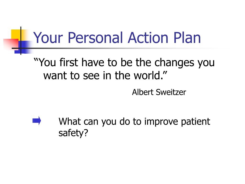 Your Personal Action Plan