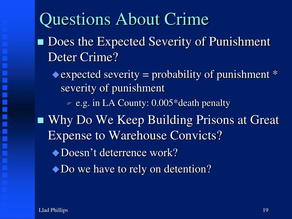 Questions About Crime