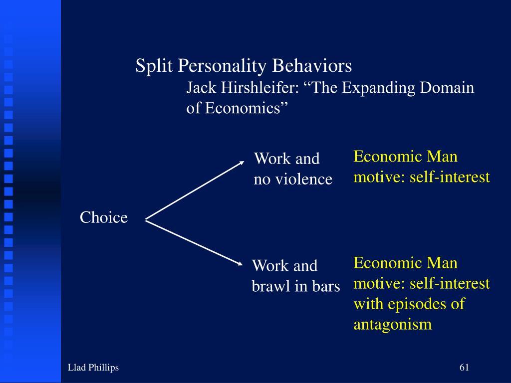 Split Personality Behaviors