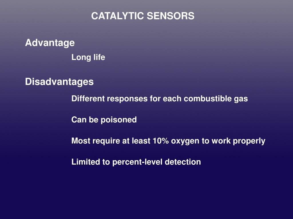 CATALYTIC SENSORS