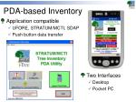 pda based inventory