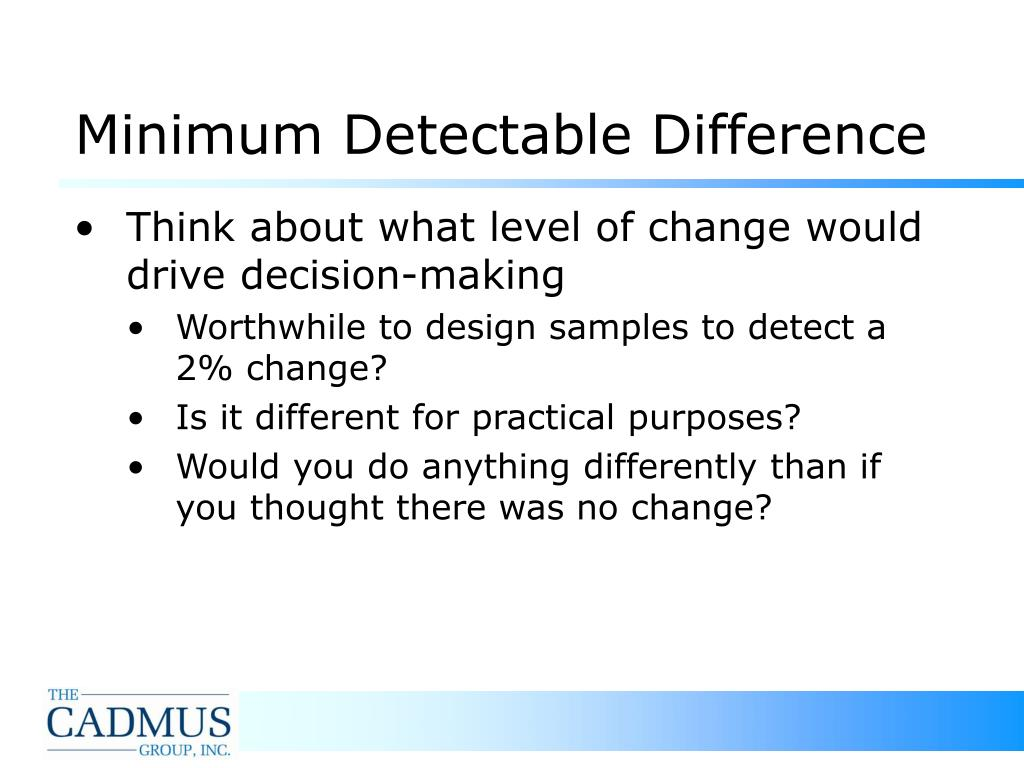 Minimum Detectable Difference